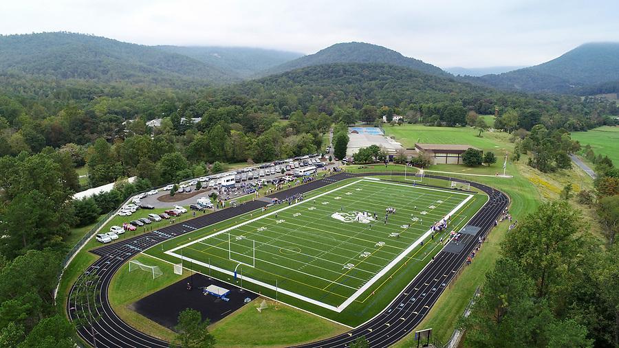 Blue Ridge School Football Field located in Greene County, Va. Photo/Andrew Shurtleff Photography, LLC