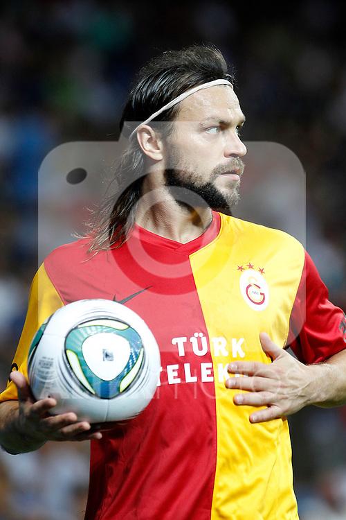 Galatasaray's Tomas Ujfalusi during Santiago Bernabeu Trophy.August 24,2011. (ALTERPHOTOS/Acero)