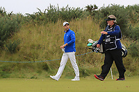 Oliver Wilson (ENG) on the 2nd tee during Round 2 of the Alfred Dunhill Links Championship 2019 at Kingbarns Golf CLub, Fife, Scotland. 27/09/2019.<br /> Picture Thos Caffrey / Golffile.ie<br /> <br /> All photo usage must carry mandatory copyright credit (© Golffile | Thos Caffrey)