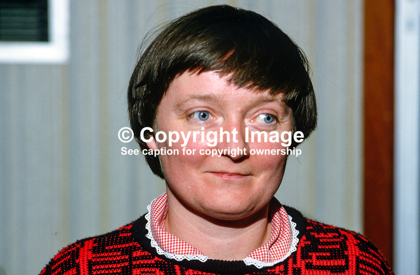 Mary McMahon, social services spokesperson, N Ireland Workers' Party, 19850036MMM..Copyright Image from Victor Patterson, 54 Dorchester Park, Belfast, UK, BT9 6RJ..Tel: +44 28 9066 1296.Mob: +44 7802 353836.Voicemail +44 20 8816 7153.Skype: victorpattersonbelfast.Email: victorpatterson@mac.com.Email: victorpatterson@ireland.com (back-up)..IMPORTANT: If you wish to use this image or any other of my images please go to www.victorpatterson.com and click on the Terms & Conditions. Then contact me by email or phone with the reference number(s) of the image(s) concerned.