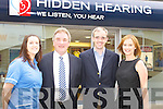 Bridget Griffin, clinical assistant Richard Llyod Davies, instrument specialist, jockey Ruby Walsh and Dolores Madden, marketing manager at the official opening of Hidden Hearing in Scotts Street on Thursday.   Copyright Kerry's Eye 2008