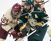 Bill Arnold (BC - 24), Chris McCarthy (UVM - 3) - The Boston College Eagles defeated the visiting University of Vermont Catamounts to sweep their quarterfinal matchup on Saturday, March 16, 2013, at Kelley Rink in Conte Forum in Chestnut Hill, Massachusetts.
