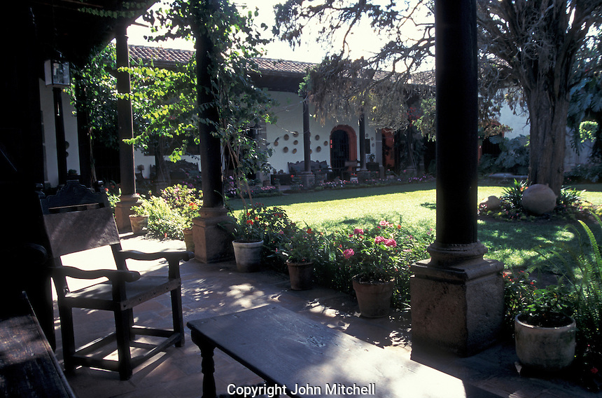 The Casa Popenoe in the Spanish Colonial city of Antigua, Guatemala. This restored 17th century mansion is now a museum.