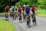 Another small group on the road during Stage 2 of the Criterium du Dauphine 2019, running 180km from Mauriac to Craponne-sur-Arzon, France. 9th June 2019<br /> Picture: ASO/Alex Broadway | Cyclefile<br /> All photos usage must carry mandatory copyright credit (© Cyclefile | ASO/Alex Broadway)