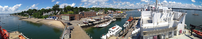 Panoramic View of Castine from the Deck of T/V State of Maine, Castine, Maine, US