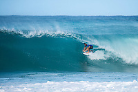 BANZAI PIPELINE, Oahu/Hawaii (Tuesday, December 13, 2016) Conner Coffin (USA) - The Billabong Pipe Masters in Memory of Andy Irons, the final stop on the 2016  World Championship Tour (CT) was called on this morning despite  unfavourable  side onshore winds.<br /> <br /> The swell had jumped a little overnight and was coming in from a NW direction and organisers decided to get the main event under way because  the forecast for the rest of the waiting period isn't looking very good.<br /> <br /> The NW swell meant a lot of the surfing was at Backdoor with the occasional Pipeline wave. <br /> Photo: joliphotos