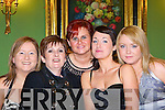 Una Lenihan, Lucy Corbet, Aine Fitzgerald, Gemma Lane and Christine O'Connor Listowel at the Dell Christmas party in the Dromhall Hotel, Killarney on Saturday night   Copyright Kerry's Eye 2008