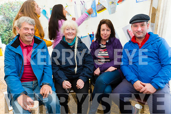 At the Churchhill Heritage Day at the forge on Saturday were Michael Browne, Bridie Brassil, Deirdre Collins, Frank O'Connor