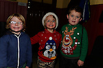 Zeplin Wilton, Calum Byrne and Harry Bell at the Boyne Ac Christmas Party<br /> Picture: Fran Caffrey www.newsfile.ie