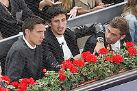 Getafe's Stefan Scepovic (l) and Atletico de Madrid's Stefan Savic during Madrid Open Tennis 2016 match.May, 6, 2016.(ALTERPHOTOS/Acero) /NortePhoto.com