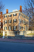 Salem Maritime National Historic Site, which was the first National Historic Site in the National Park System. This is the Hawkes House located in Salem, Massachusetts USA