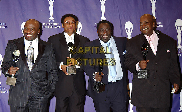 THE O'JAYS.2005 Rock and Roll Hall of Fame Induction Ceremony held at the Waldorf Astoria, New York, New York.March 14th, 2005.Photo Credit: Laura Farr/AdMedia.half length award trophy inductees.www.capitalpictures.com.sales@capitalpictures.com.© Capital Pictures.