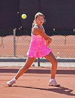 Netherlands, Rotterdam August 05, 2015, Tennis,  National Junior Championships, NJK, TV Victoria, Isabelle Haverlag    Lienka Ammar<br /> Photo: Tennisimages/Henk Koster