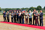 Legends Day at Saratoga Racecourse, Aug. 5.  Legendary retired jockeys signed autographs and were honored with a red carpet on the track.  (Photo credit: Bruce Dudek/Eclipse Sportswire)