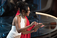 Tiffany Haddish and Maya Rudolph present during the live ABC Telecast of The 90th Oscars&reg; at the Dolby&reg; Theatre in Hollywood, CA on Sunday, March 4, 2018.<br /> *Editorial Use Only*<br /> CAP/PLF/AMPAS<br /> Supplied by Capital Pictures