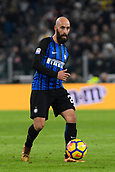 9th December 2017, Allianz Stadium, Turin, Italy; Serie A football, Juventus versus Inter Milan; Borja Valero plays the ball