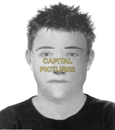 FACIAL IMAGE OF ROBBER.Sally Ann Bowman case.headshot portrait e-fit drawing sketch .CAP/DH.©David Hitchens/Capital Pictures
