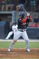 Jerry Downs (44) of the Salem Red Sox at bat during the 2018 Carolina League All-Star Classic at Five County Stadium on June 19, 2018 in Zebulon, North Carolina. The South All-Stars defeated the North All-Stars 7-6.  (Brian Westerholt/Four Seam Images)