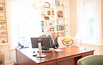 President Nellis at work on his first official day in office.