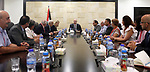 Palestinian Prime Minister Rami Hamdallah meets with a delegation from the union of Ramallah sons in America, in the West Bank city of Ramallah on July 30, 2017. Photo by Prime Minister Office