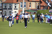 Harry Hall (GB&I) on the 1st during Day 2 Singles at the Walker Cup, Royal Liverpool Golf CLub, Hoylake, Cheshire, England. 08/09/2019.<br /> Picture Thos Caffrey / Golffile.ie<br /> <br /> All photo usage must carry mandatory copyright credit (© Golffile | Thos Caffrey)