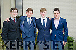 l-r  Michael Edgar, Ronan Carey, Billy Brassil and David Murphy at Mercy Mounthawk Graduation mass 2016 in St Brendan's Church on Friday