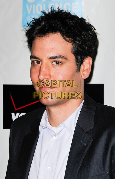 JOSH RADNOR .arriving at Peace Over Violence's 38th Annual Humanitarian Awards Dinner and Silent Auction held at the Beverly Hills Hotel in Beverly Hills, California, USA, November 6th 2009..portrait headshot    grey gray pinstripe.CAP/ROT.©Lee Roth/Capital Pictures