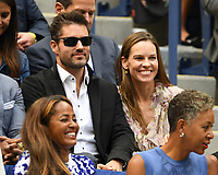 FLUSHING NY- SEPTEMBER 09: Hilary Swank is sighted watching Madison Keys Vs. Sloane Stephens Stephens defeats Keys in straight sets 6-3, 6-0 during the Womens finals on Arthur Ashe Stadium at the US Open in the USTA Billie Jean King National Tennis Center on September 9, 2017 in Flushing Queens. <br /> CAP/MPI04<br /> &copy;MPI04/Capital Pictures