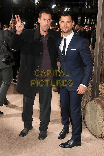 30 November 2015 - Universal City, California - Adam Sandler, Taylor Lautner. &quot;The Ridiculous 6&quot; Los Angeles Premiere held at the AMC Universal CityWalk Stadium 19. <br /> CAP/ADM/BP<br /> &copy;BP/ADM/Capital Pictures