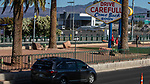 Supporters of a Culinary Union 226 caravan down Las Vegas Strip calling attention to casinos to share re-opening plans and enforce strong protections for workers and visitors amid the coroavirus pandemic, in Nevada,