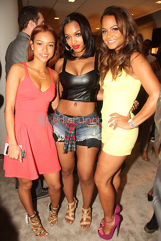 LOS ANGELES, CA - JANUARY 25: <br /> Karrueche Tran, Christina Milian, Lola Monroe at the AJ Crimson Gifting Lounge in Los Angeles, California on January 25, 2014. Photo Credit: Walik Goshorn /MediaPunch