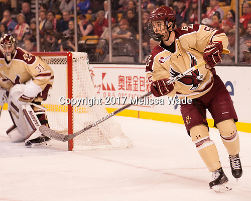Casey Fitzgerald (BC - 5) - The Boston University Terriers defeated the Boston College Eagles 3-1 in their opening Beanpot game on Monday, February 6, 2017, at TD Garden in Boston, Massachusetts.