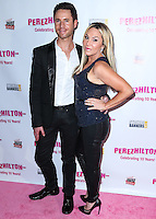 HOLLYWOOD, LOS ANGELES, CA, USA - SEPTEMBER 19: Casey Monroe and Adrienne Maloof arrive at the Perez Hilton's 10th Anniversary Party held at the Hollywood Athletic Club on September 19, 2014 in Hollywood, Los Angeles, California, United States. (Photo by Xavier Collin/Celebrity Monitor)