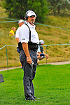 29 August 2009: CBS commentator David Feherty during the third round of The Barclays PGA Playoffs at Liberty National Golf Course in Jersey City, New Jersey.