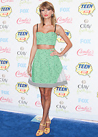 LOS ANGELES, CA, USA - AUGUST 10: Taylor Swift arrives at the Teen Choice Awards 2014 held at The Shrine Auditorium on August 10, 2014 in Los Angeles, California, United States. (Photo by Celebrity Monitor)