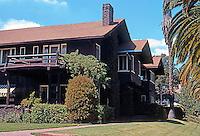 Greene & Greene: California shingle style house, Pasadena CA.  Photo '76.