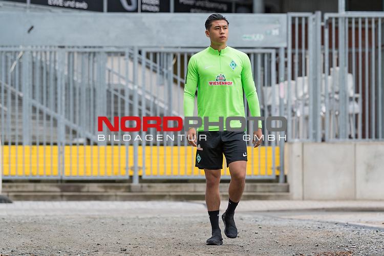 04.07.2017, Trainingsgelaende, Bremen, GER, 1.FBL, Training SV Werder Bremen<br /> <br /> im Bild<br /> Yuning Zhang (Neuzugang SV Werder Bremen #19), <br /> <br /> Foto &copy; nordphoto / Ewert