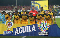 MONTERIA - COLOMBIA, 13-10-2019: Jugadores de Medellin posan para una foto previo al partido por la fecha 17 de la Liga Águila II 2019 entre Jaguares de Córdoba F.C. y Deportivo Independiente Medellín jugado en el estadio Jaraguay de la ciudad de Montería. / Players of Medellin pose to a photo prior the match for the date 17 as part Aguila League II 2019 between Jaguares de Cordoba F.C. and Deportivo Independiente Medellin played at Jaraguay stadium in Monteria city. Photo: VizzorImage / Cont