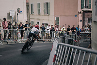Haimar Zubeldia (ESP/Trek-Segafredo) in the very last pro TT race of his life. After 20 years of pro-racing The Classica Sebastian 1 week later will be his very last pro-race.<br /> <br /> 104th Tour de France 2017<br /> Stage 20 (ITT) - Marseille &rsaquo; Marseille (23km)