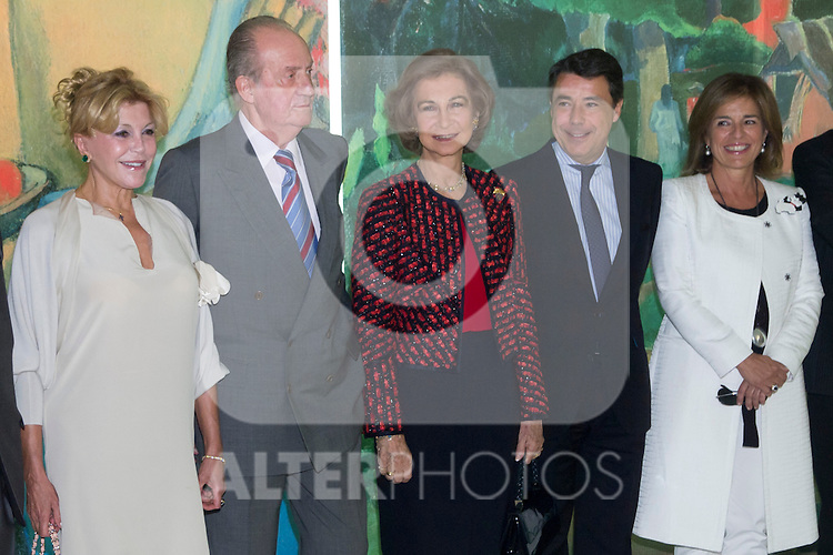 08.10.2012. Spanish Royals, Juan Carlos and Sofia, preside the ceremony commemorating the 20th anniversary of the Thyssen-Bornemisza Museum located in the Villahermosa Palace, in Madrid, Spain. In the image (L-R) Baroness Carmen Thyssen-Bornemisza, King Juan Carlos of Spain, Queen Sofia of Spain, Ignacio Gonzalez (Madrid Regional President) and Ana Botella (Mayor of Madrid). (Alterphotos/Marta Gonzalez)