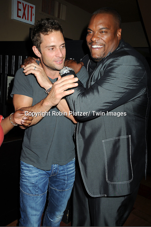 David Fumero and Sean Ringgold attending the 5th Annual Sean Ringgold Fan Club Party on August 12, 2011 at HB Burger's Sunken Bar in New York City.