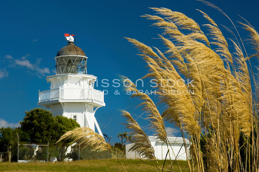 Katiki Point Lighthouse near Moeraki Villiage, Coastal Otago, South Island