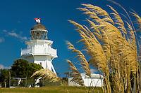 Katiki Point Lighthouse near Moeraki Villiage, Coastal Otago, South Island