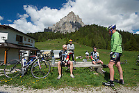 A Thomson Bike Tours Giro d'Italia trip--Summit of 1600 meter Passo Duran.
