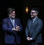 Kenneth Lonergan and Trip Cullman during the the Broadway Opening Night Performance curtain call for 'Lobby Hero' at The Hayes Theatre on March 26, 2018 in New York City.