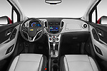 Stock photo of straight dashboard view of a 2015 Chevrolet Trax LTZ 5 Door SUV Dashboard