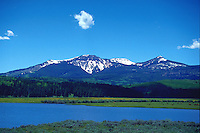 Mountain view from Steamboat Lake, Colorado
