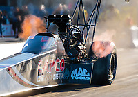 Oct 18, 2019; Ennis, TX, USA; NHRA top fuel driver Billy Torrence during qualifying for the Fall Nationals at the Texas Motorplex. Mandatory Credit: Mark J. Rebilas-USA TODAY Sports
