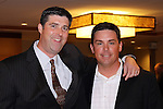 "Ian Furness, KJR radio host, and WSU head baseball coach, Donnie Marbut, at a ""Night with Cougar Baseball"" at the Bellevue Hyatt on March 31, 2010."