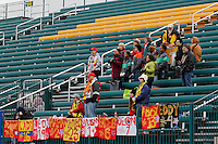 Rochester, NY - Friday April 29, 2016: Western New York Flash fans. The Washington Spirit defeated the Western New York Flash 3-0 during a National Women's Soccer League (NWSL) match at Sahlen's Stadium.